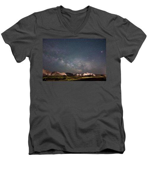 Summer Sky At Badlands  Men's V-Neck T-Shirt