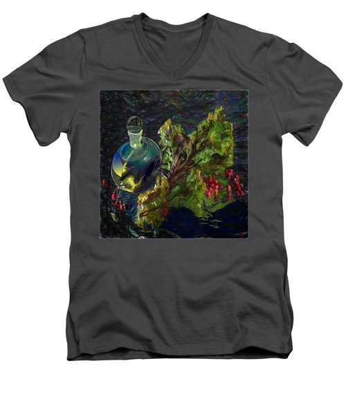 Summer Stillife Men's V-Neck T-Shirt by Vladimir Kholostykh