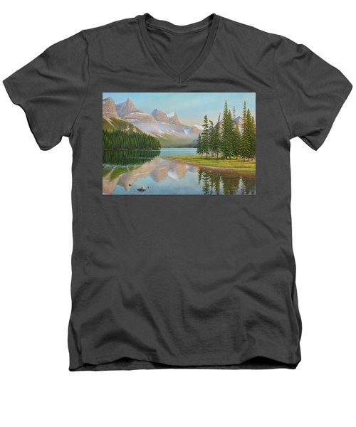 Summer Stillness Men's V-Neck T-Shirt