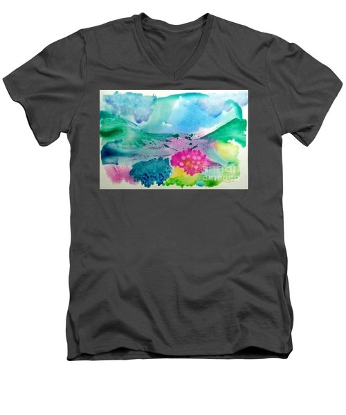 Summer Storm Men's V-Neck T-Shirt by Lynda Cookson