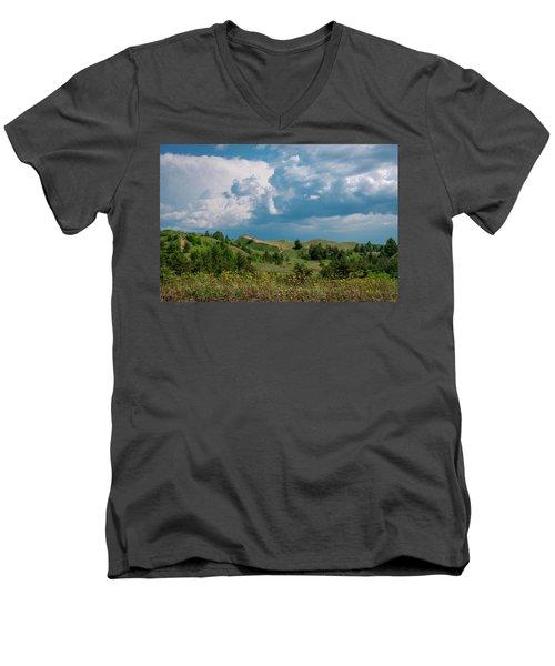 Summer Storm Over The Dunes Men's V-Neck T-Shirt