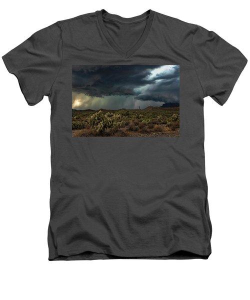 Men's V-Neck T-Shirt featuring the photograph Summer Storm  by Saija Lehtonen