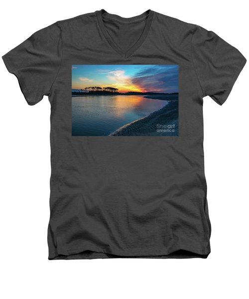 Summer Sunrise At The Inlet Men's V-Neck T-Shirt