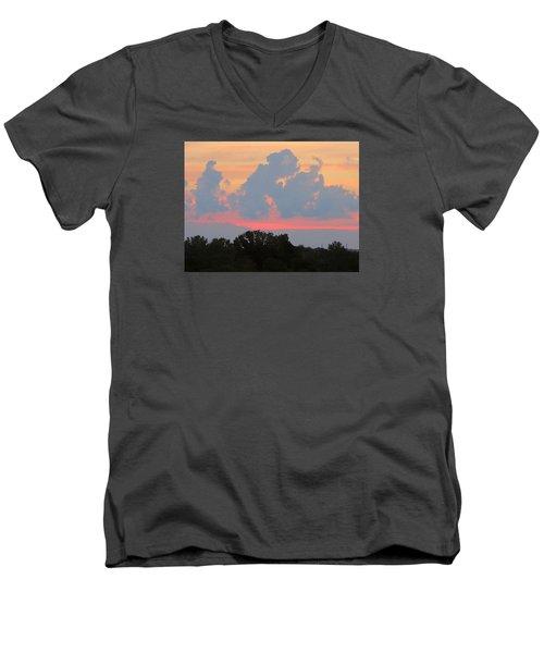 Summer Sunset In Missouri Men's V-Neck T-Shirt by Robin Regan