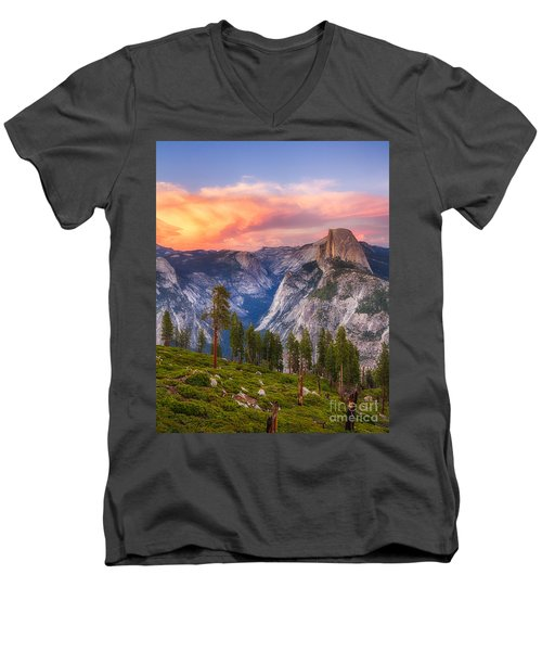 Men's V-Neck T-Shirt featuring the photograph Summer Sunset by Vincent Bonafede