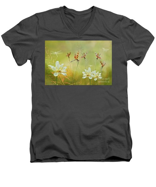 Men's V-Neck T-Shirt featuring the photograph Summer Symphony by Bonnie Barry