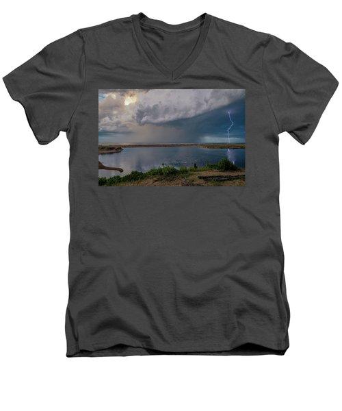 Summer Thunderstorm Men's V-Neck T-Shirt