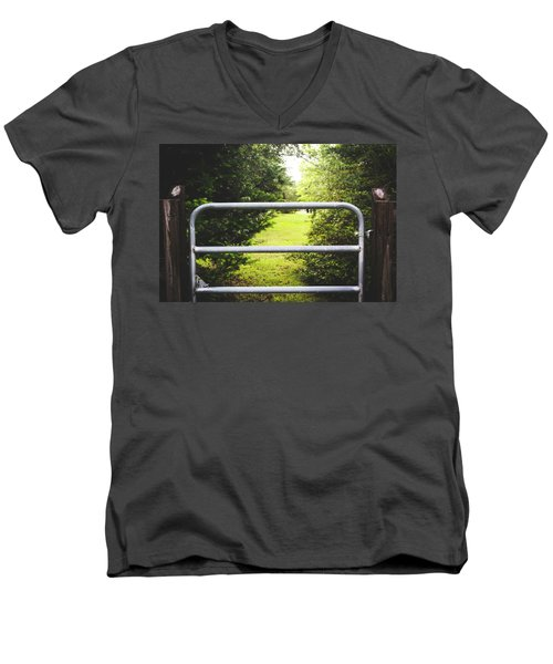 Men's V-Neck T-Shirt featuring the photograph Summer Vibes On The Farm by Shelby Young