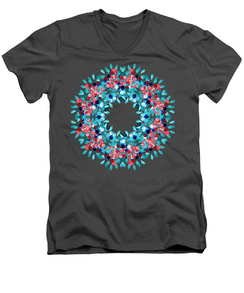 Summer Wreath Men's V-Neck T-Shirt