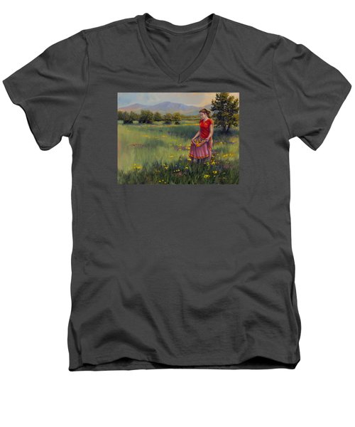 Summers Bounty Men's V-Neck T-Shirt by Kurt Jacobson