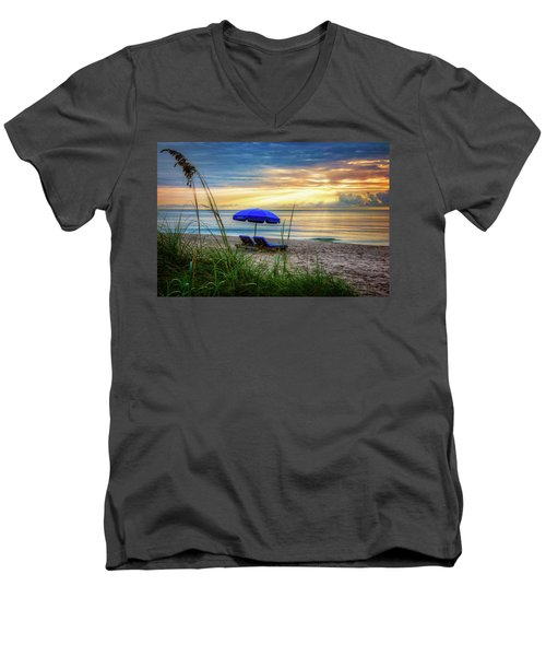Men's V-Neck T-Shirt featuring the photograph Summer's Calling by Debra and Dave Vanderlaan