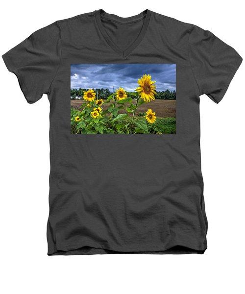 Summers Over Men's V-Neck T-Shirt by John Nielsen