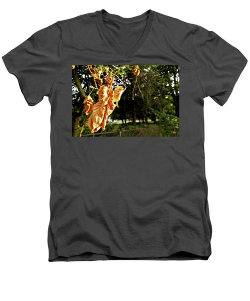 Men's V-Neck T-Shirt featuring the photograph Summer's Toll by Robert Knight