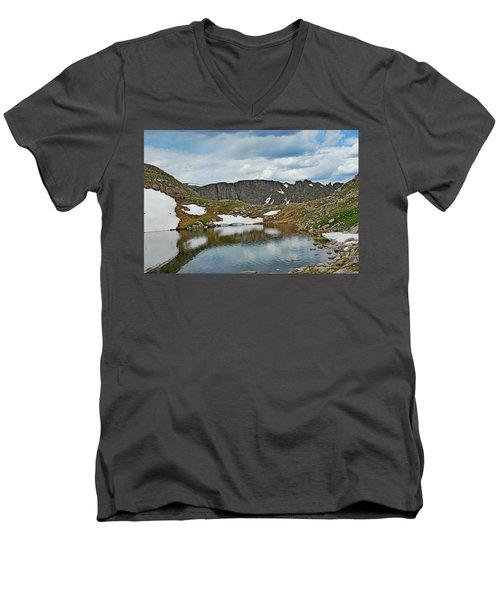 Summit Lake In Summer Men's V-Neck T-Shirt