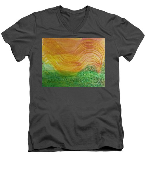Sun And Grass In Harmony Men's V-Neck T-Shirt