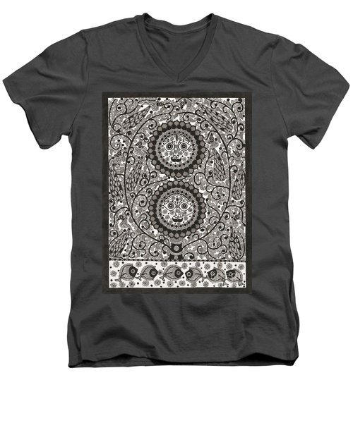 Sun And Moon Men's V-Neck T-Shirt