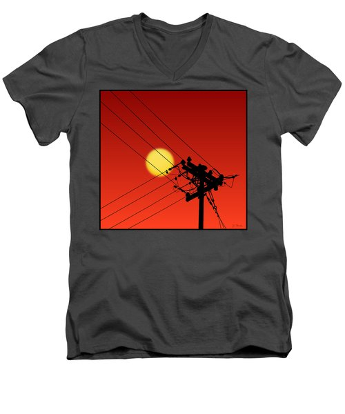Sun And Silhouette Men's V-Neck T-Shirt