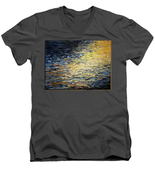 Sun And Wind On Water Men's V-Neck T-Shirt