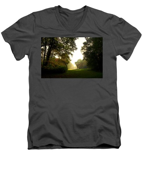Sun Beams In The Distance Men's V-Neck T-Shirt