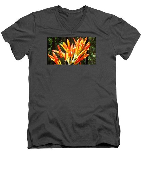 Men's V-Neck T-Shirt featuring the photograph Sun Burst by Jake Hartz