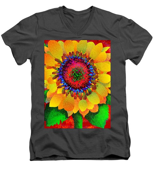 Sun Burst Men's V-Neck T-Shirt