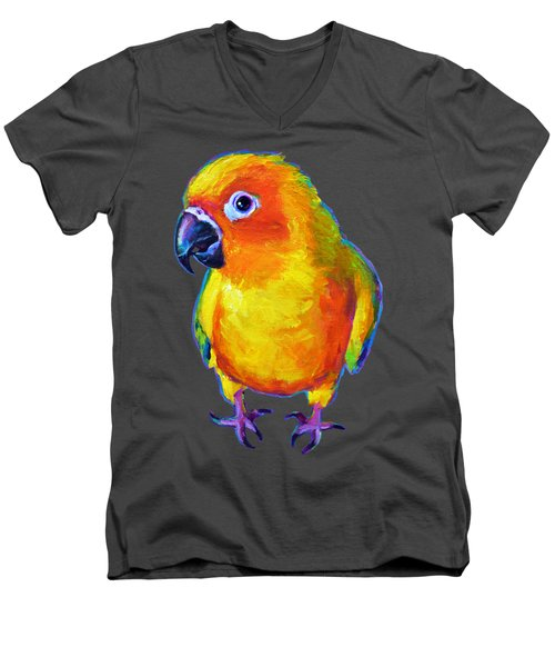 Sun Conure Parrot Men's V-Neck T-Shirt