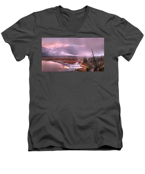 Men's V-Neck T-Shirt featuring the photograph Sun Dance by John Poon