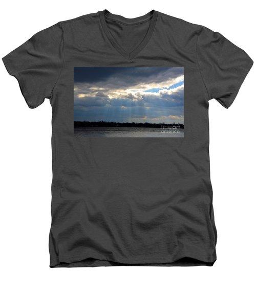 Sun Dance On The Delaware River Men's V-Neck T-Shirt