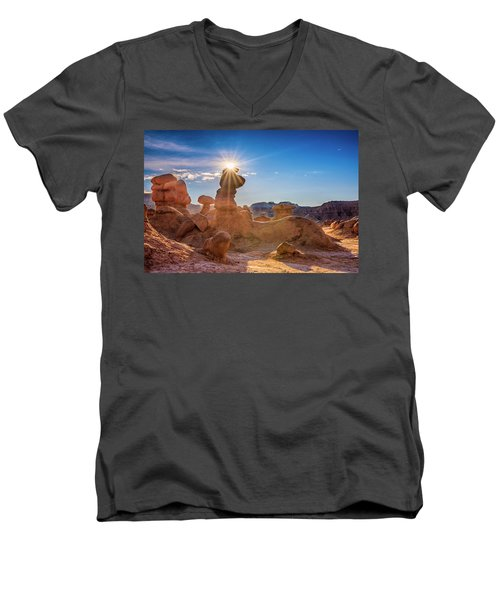 Sun Dog Men's V-Neck T-Shirt