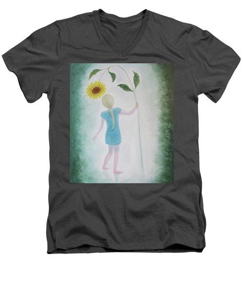 Sun Flower Dance Men's V-Neck T-Shirt