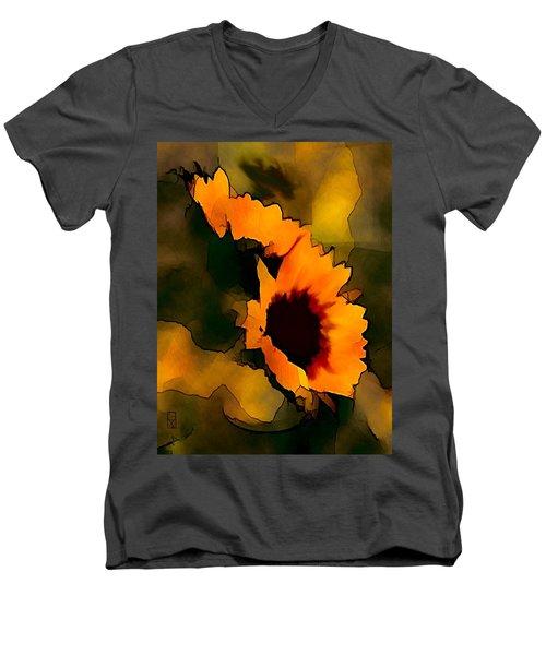 Sun Flower Men's V-Neck T-Shirt