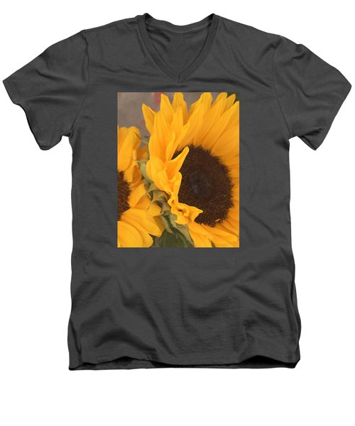 Sun Flower Men's V-Neck T-Shirt by Jana Russon