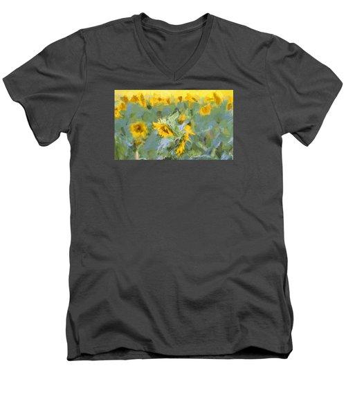Sun Flowers Men's V-Neck T-Shirt