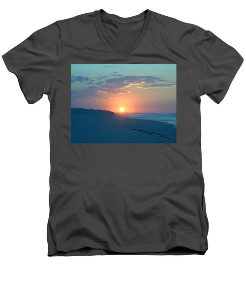 Men's V-Neck T-Shirt featuring the photograph Sun Glare by  Newwwman