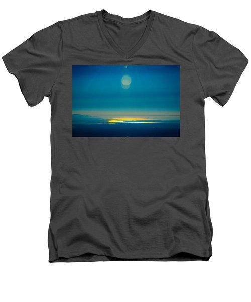 Sun Going Down On The Sound Men's V-Neck T-Shirt