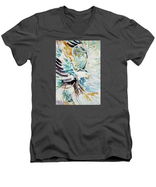 Sun Moon Water Sky Men's V-Neck T-Shirt