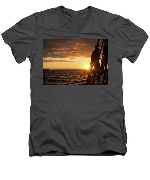 Sun On The Horizon Men's V-Neck T-Shirt