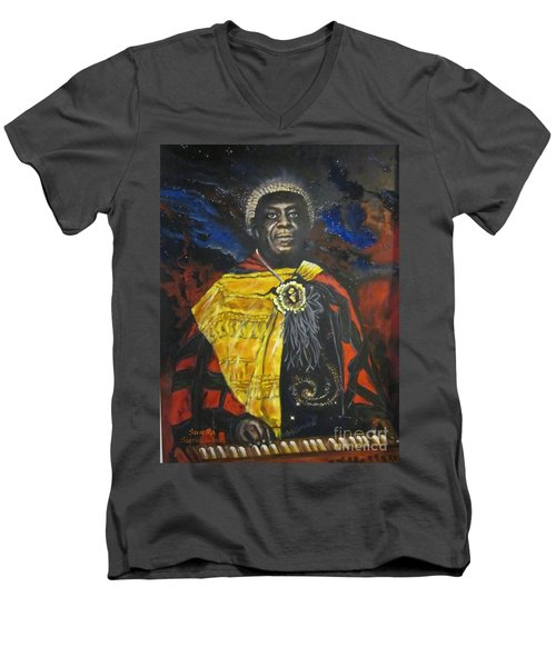 Sun-ra - Jazz Artist Men's V-Neck T-Shirt by Sigrid Tune