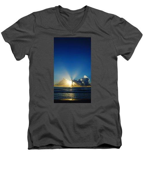 Sun Ray Sunrise Men's V-Neck T-Shirt