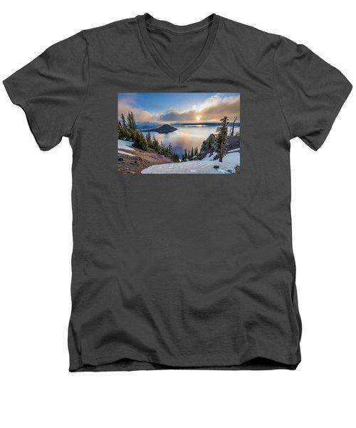 Sun Rising Through Mists Men's V-Neck T-Shirt