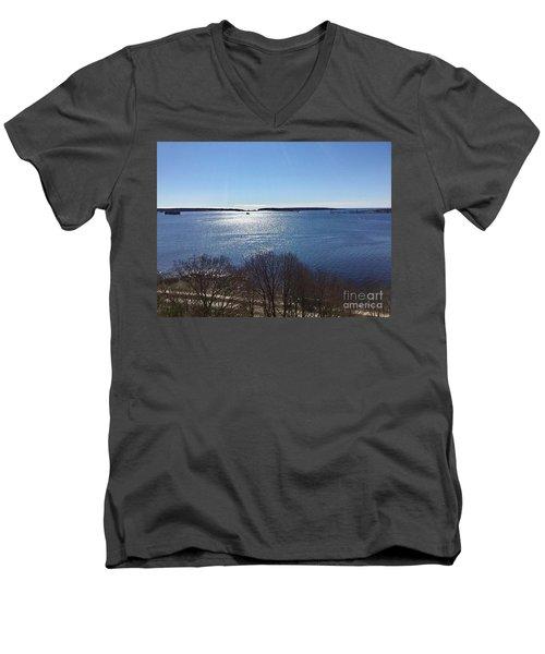 Sun Shiny Casco Bay Men's V-Neck T-Shirt