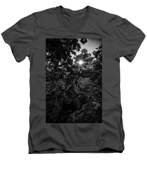 Sun Through The Trees Men's V-Neck T-Shirt by Paul Seymour