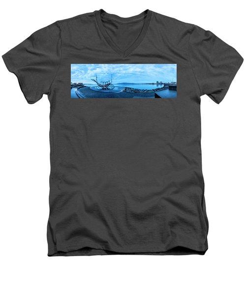 Sun Voyager Viking Ship In Iceland Men's V-Neck T-Shirt
