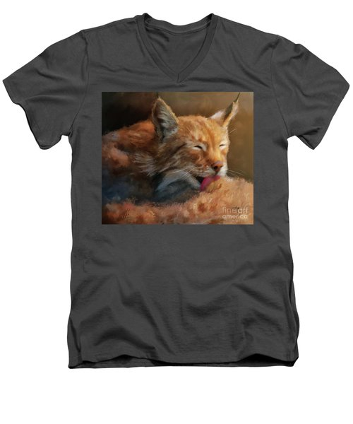 Men's V-Neck T-Shirt featuring the photograph Sunbathing by Lois Bryan