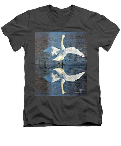 Sunbathing Swans Men's V-Neck T-Shirt
