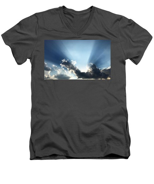 Sunburst Men's V-Neck T-Shirt