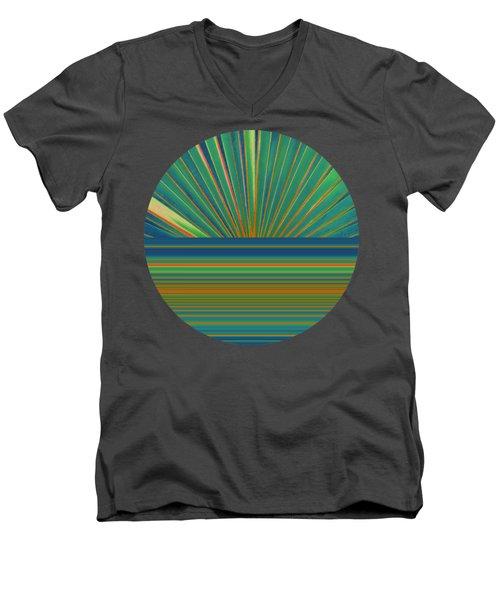 Men's V-Neck T-Shirt featuring the photograph Sunburst by Michelle Calkins