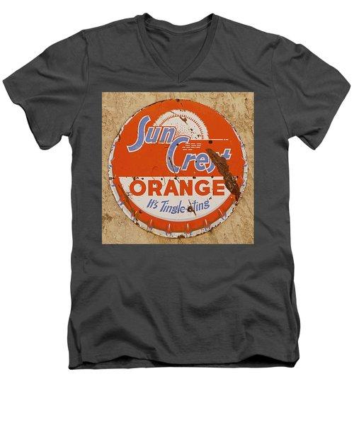 Suncrest Orange Soda Cap Sign Men's V-Neck T-Shirt