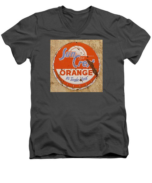 Suncrest Orange Soda Cap Sign Men's V-Neck T-Shirt