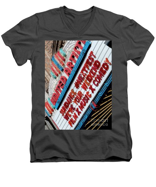 Sundance Next Fest Theatre Sign 2 Men's V-Neck T-Shirt